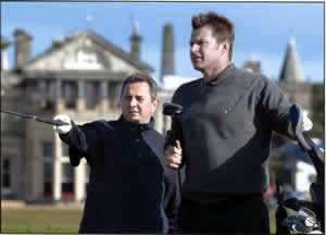 Antoni Jakubowski and patient Nick Faldo playing at St Andrews Dunhill Links 2003.